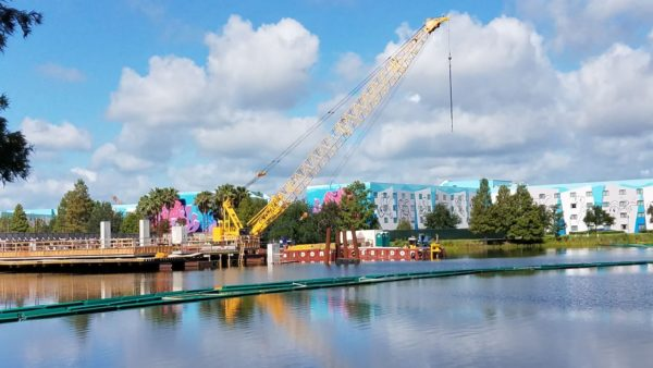 Generation Gap Bridge Disney Skyliner construction