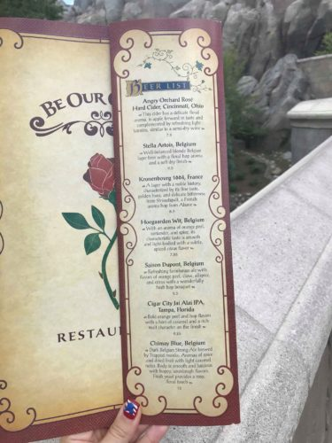 Take A Look At The Beautiful New Menus At Be Our Guest 5