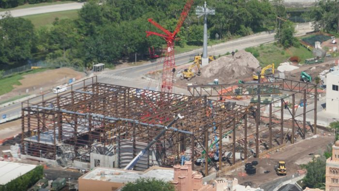 New Construction Photos of Ratatouille Ride in Epcot 2