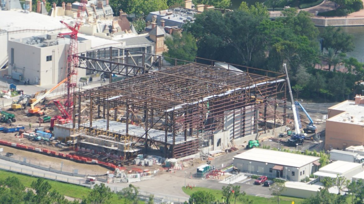 New Construction Photos of Ratatouille Ride in Epcot