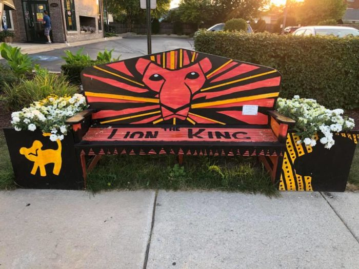 Disney Themed Benches in Tinley Park, Illinois 2