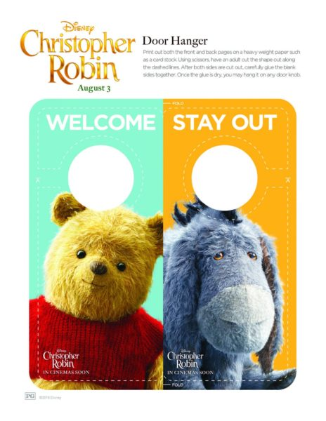 "Disney's ""Christopher Robin"" Coloring Pages 14"