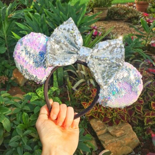 Reversible Sequin Minnie Mouse Ears