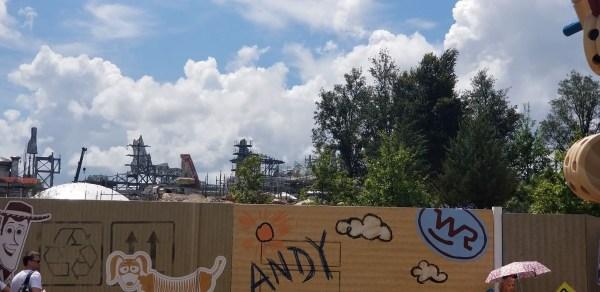 Construction for Star Wars: Galaxy's Edge at Walt Disney World 2