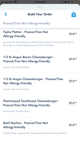 Allergy-Friendly Options Now Available for Mobile Order on the My Disney Experience App 5