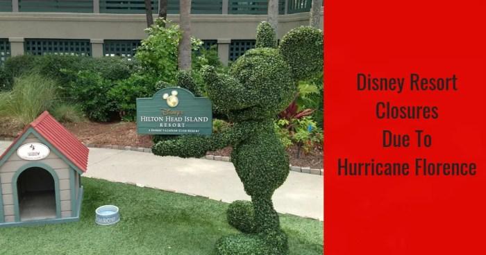In Preparation for Hurricane Florence Disney's Hilton Head Island Resort Closes
