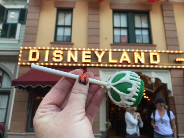 Spooky Poison Apple Cake Pops At Disneyland