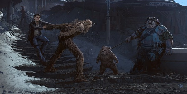 """SOLO: A Star Wars Story"" Bonus and Concept Art: Han & Chewie 2"