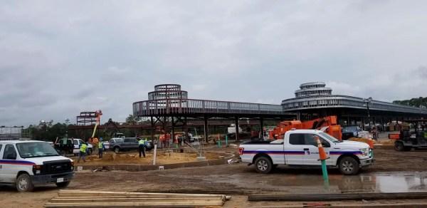 Bus & Skyliner Terminal Construction Underway at Hollywood Studios