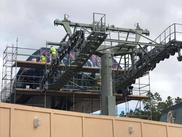 Take a Look - Epcot Skyliner Update - Artwork Being Added