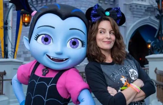 Tina Fey Gets Spooky with Vampirina at Disney World