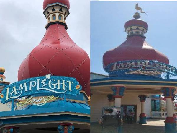 Lamplight Lounge Sports Updated Sign
