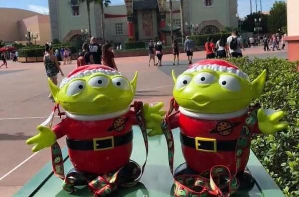 Alien Holiday Popcorn Buckets