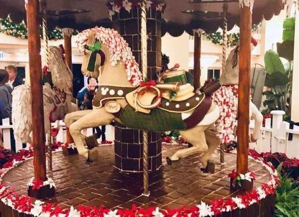 Disney's Beach Club Resort Carousel Entirely Made of Gingerbread 1