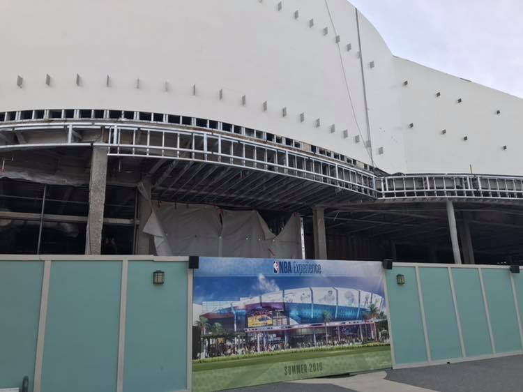 Excitement Building: Construction Continues As NBA Experience Begins To Take Form