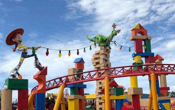 Toy Story Land Fun at Christmas