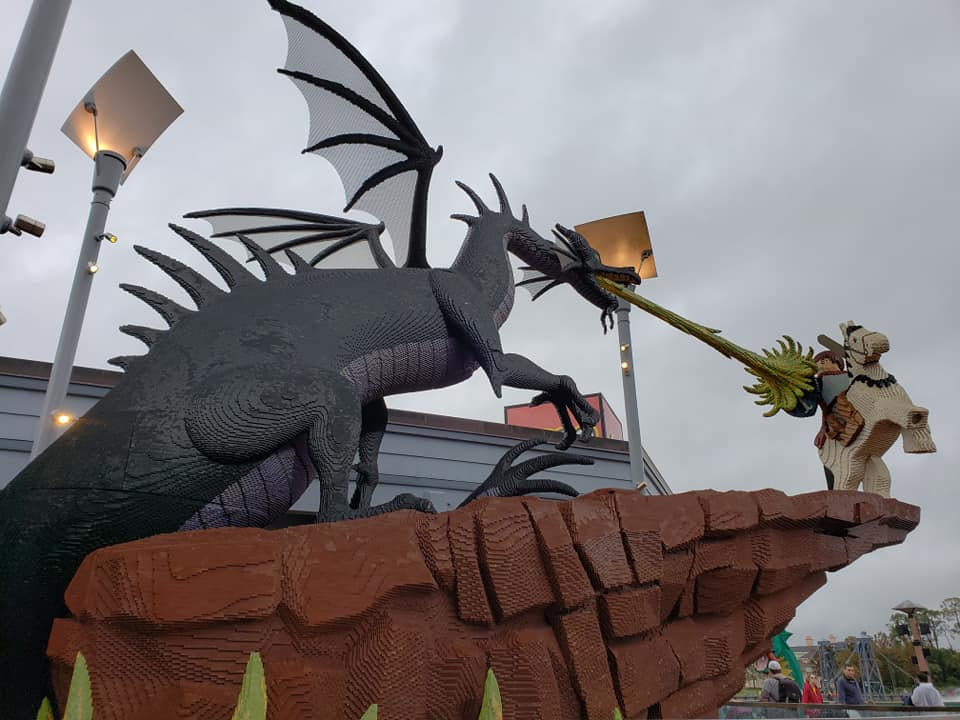 New Lego Statues Outside of the Lego Store at Disney Springs!