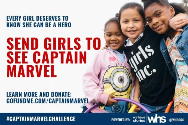 Help the Girls go See Captain Marvel