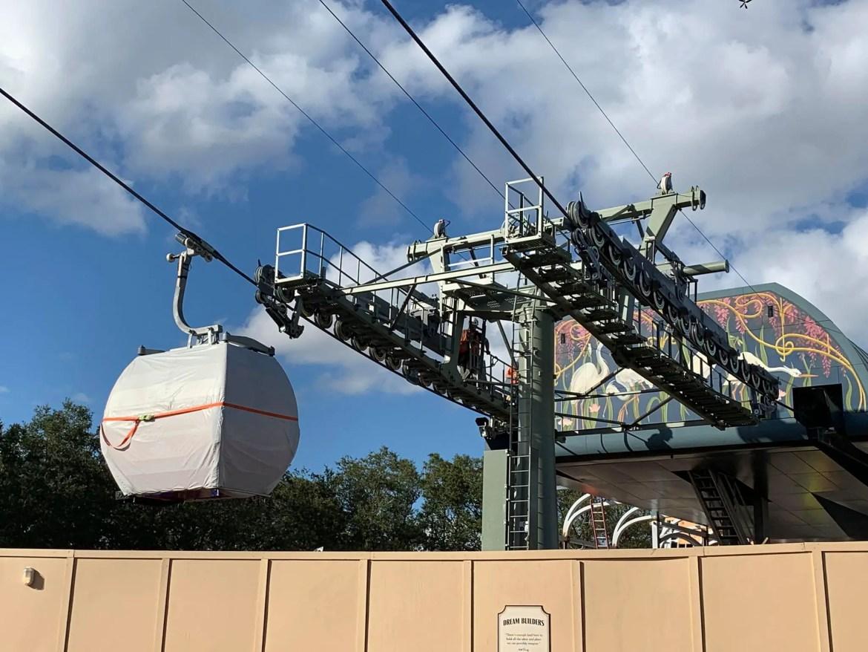 Disney's Skyliner Testing at Epcot's International Gateway