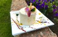 Delicious Artful Peanut Butter Cake at Epcot