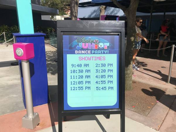 Disney Junior Dance Party Schedule