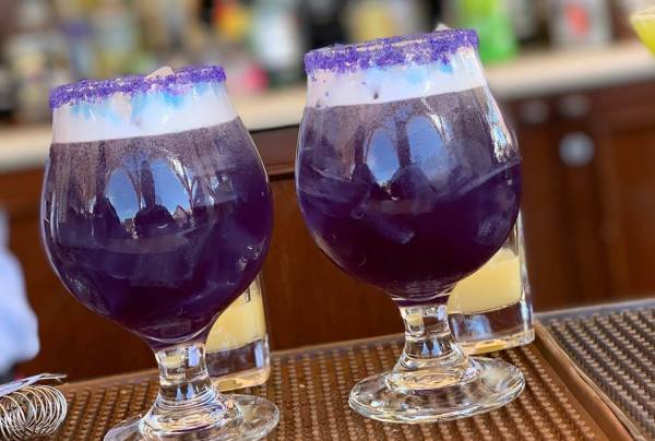 New purple drink at Lamplight Lounge