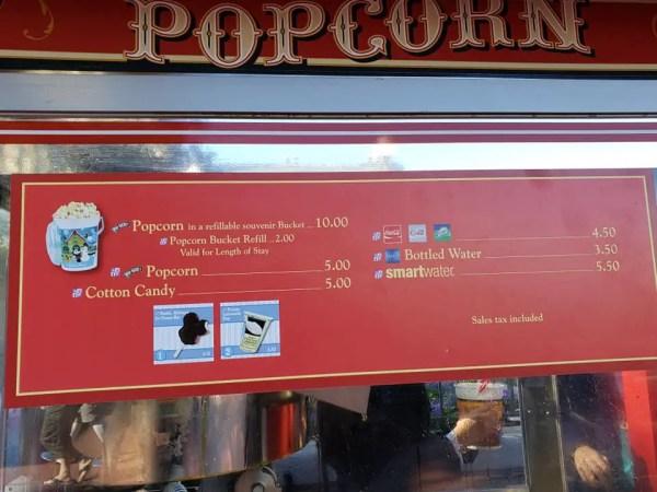 Popcorn bucket magic kingdom