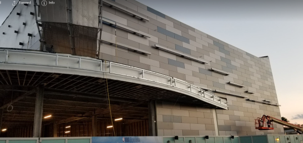 Construction Continues on the NBA Experience at Disney Springs
