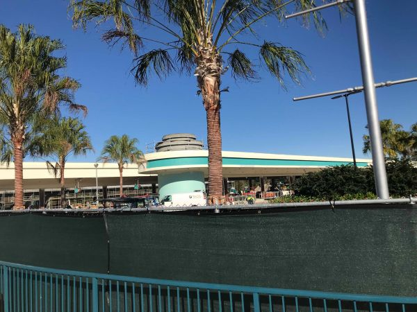 Update on Hollywood Studios Bus Stop Construction 1