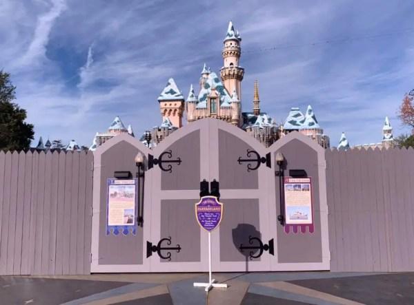 Sleeping Beauty Castle Closed