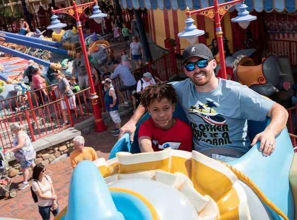 Daytona 500 NASCAR star Austin Dillon Spends Day Off at Disney world.