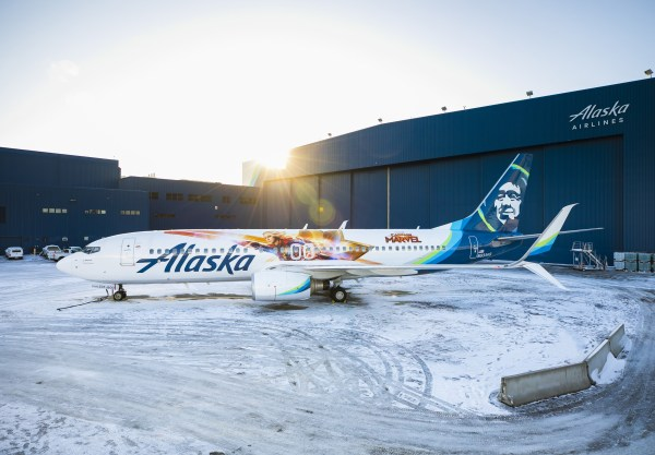 Captain Marvel Alaska Airlines