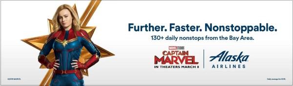 Captain Marvel Alaska Airlines