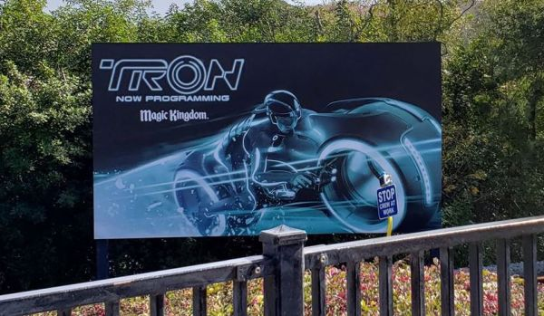 Tron Roller Coaster Construction Update