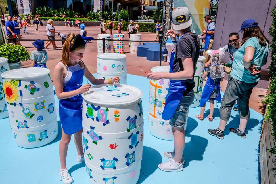 """""""Brighten a Barrel"""" Activity Station is Back at Epcot!"""