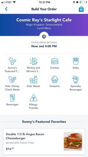 Updated My Disney Experience App Allows For Easier Mobile Orders 2