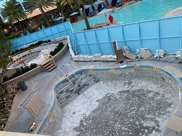 Disneyland Hotel Pool refurbishment