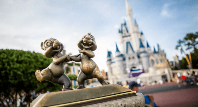Registration for Cast Member Previews at Walt Disney World coming July 1st Chip and Dale Cinderella Castle