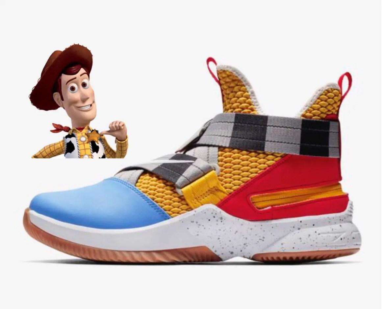 Woody Look-A-Like Lebron James High Tops