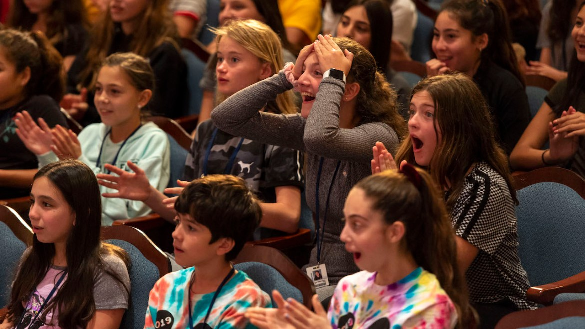 Performing Arts Students Get Surprised By Aladdin On Broadway Stars