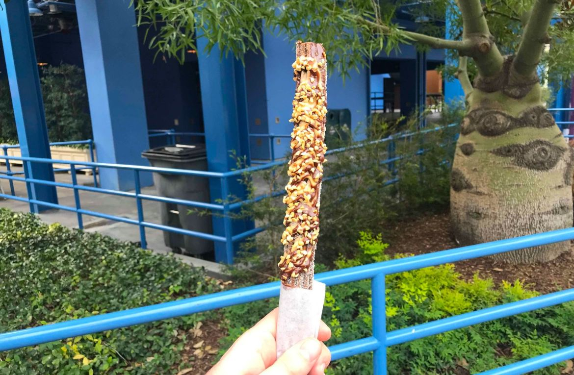 Chocolate Peanut Butter Churro Now at California Adventure Food & Wine Festival
