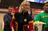 Brie Larson Helps Out Fans at Captain Marvel Screening