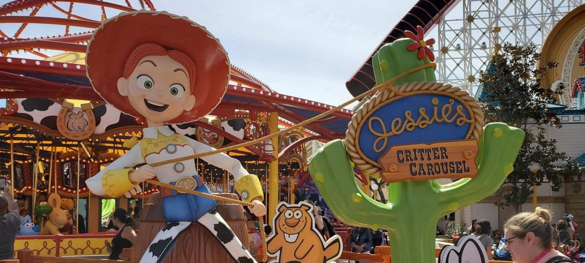 Jessie's Critter Carousel Is Now Open In California Adventure!