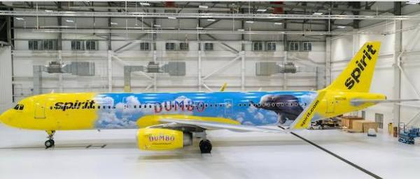 """Live-Action """"Dumbo"""" Takes Flight with Spirit Airlines"""