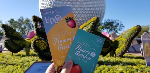 EPCOT International Flower And Garden Festival Park Maps