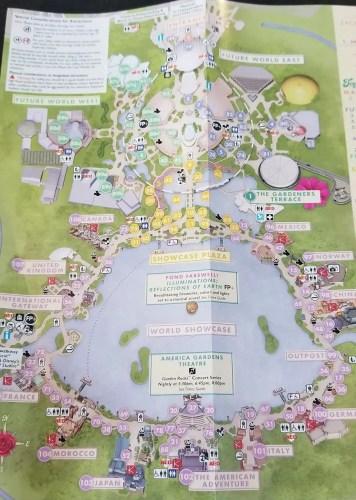 2019 EPCOT International Flower And Garden Festival Park Maps 1
