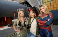 Sarah Michelle Gellar And Selma Blair Pose With Captain Marvel And Celebrate At Disneyland Resort
