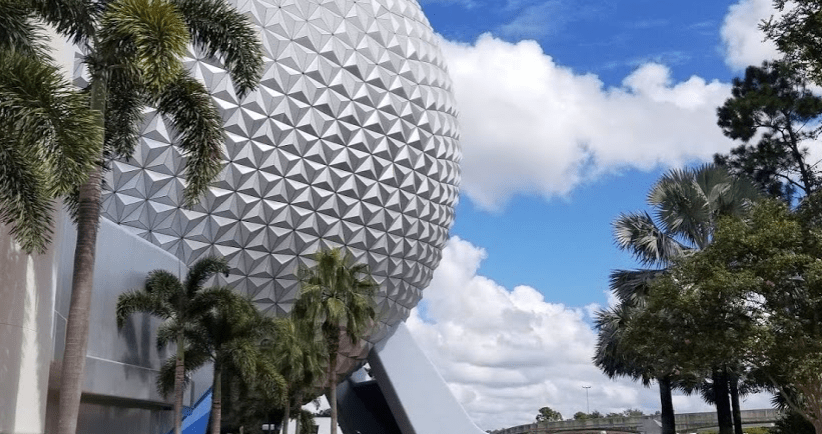 Tram and Security Area Construction at Epcot