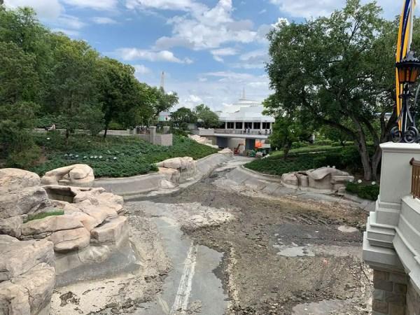 New Photos of the Moat Construction at Walt Disney World 3
