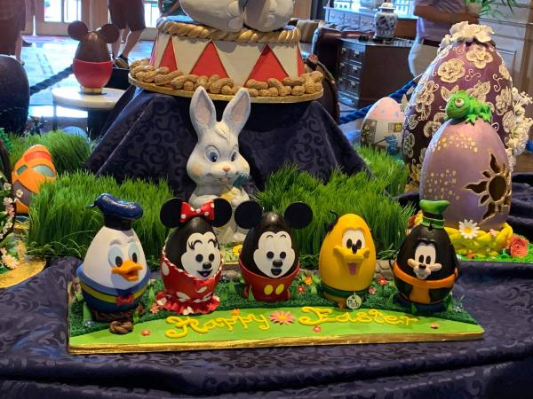 The 2019 Easter Egg Display At Disney's Yacht & Beach Club Resorts